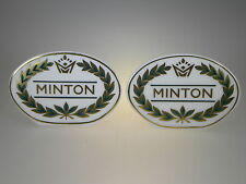 Minton Collection Display Sign Set of 2 Made in England