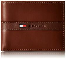 Tommy Hilfiger Cambridge Passcase Credit Card Men Black Leather Wallet 5675 Brown