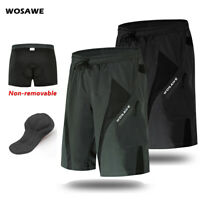 Mens Cycling Baggy Shorts Padded MTB Mountain Bike Loose-Fit Casual Pants Summer