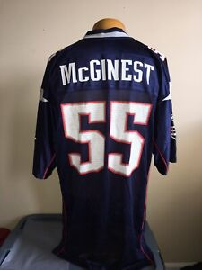 Vintage NFL Reebok New England Patriots Willie McGinest #55 Jersey Men's L