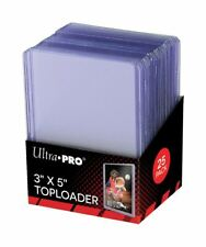 "25 Ultra Pro 3"" x 5"" Toploader Holder Tall Cards Widevision Gameday #81182"