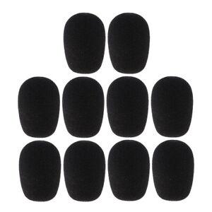 10x Mikrofon Windschutz/Popschutz aus Schaumstoff Schwarz