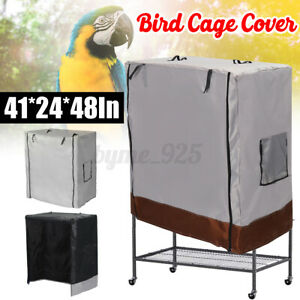 Bird Cage Cover Parrot green Food Catcher Dust Proof Guard Mesh Protector