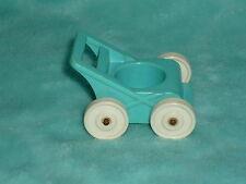 Fisher Price Little People Vintage Baby Blue Nursery Stroller