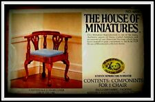 DOLL HOUSE OF MINIATURES CHIPPENDALE CORNER CHAIR KIT, ANTIQUE REPLICA