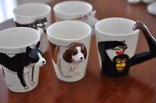 New 3D Animal Dog Lover china Mug Milk Coffee Tea Cute Designed Handle Cup