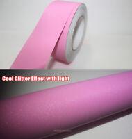 Pink Car House Glitter Flicker Twinkle Sparkle Vinyl Wrap Tape Decal Sticker AB