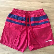 French Connection, Swimming Shorts, Navy Red & Navy Strip, Size Med