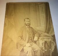 Antique Civil War Era Victorian American Fashion Man, Big Mutton Chops CDV Photo