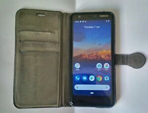 Nokia 3.1 - 16GB - Black (Unlocked) Android 10 Smartphone with case