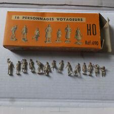HO Jouef  690 14 Personnages Miniatures boite origine déco  train electrique