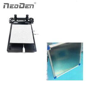 Manual Stencil Printer + Pneumatic Stencil Frame for PCB Assembly