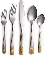40 Piece Stainless Steel Flatware Set Service for 8 People Knives, Tablespoons