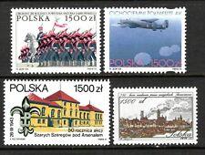 Poland Stamps. Sc.# 3171, 3175, 3145, 3150 Mnh