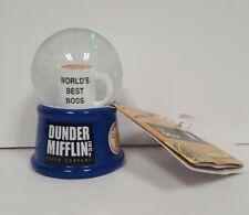 Dunder Mifflin Worlds Best Boss Light Up mini Snow Globe The Office 3 1/2 in.