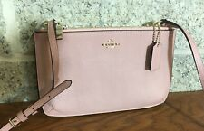 NWT COACH LYLA LEATHER 57135 GUSSETED BLUSH PINK BAG CROSSBODY MESSENGER PURSE
