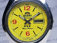 Vintage Orient Day/Date Mens Analog Dial Mechanical Automatic Wrist Watch VG280