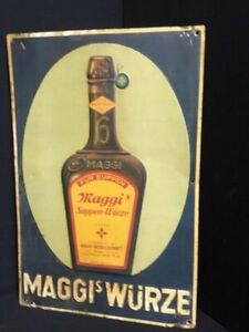 Maggi´s Würze altes Blechschild mit der Flasche - Rarität 45 x 30 cm - D/AT 1910