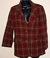 Eddie Bauer Women's Suit Jacket Size Small 100% Wool Vintage
