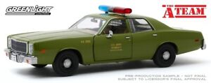 Greenlight 1/24 A-Team (1983-87 TV Series) 1977 Plymouth Fury US Army Police (Mo