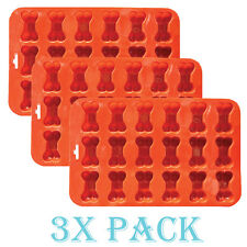 3 pack x Mini Bone Silicone Baking flexible Mold Ice Tray Dog Puppy Treat Cookie