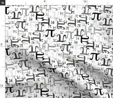 New listing Pi Gray Math Nerd Geek Science Spoonflower Fabric by the Yard