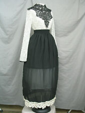Victorian Dress Edwardian Costume Black and White