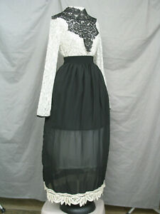 Victorian Dress Edwardian Costume Black and White