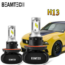 H13 9008 BEAMTECH LED Headlight PHILIPS CSP Kit Bulb 8000LM 50W Hi/Lo Beam 6500K
