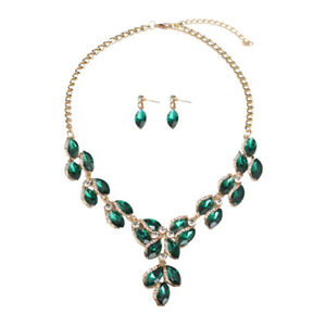 New Luxury Wedding Party Jewelry Set Fashion Crystal Necklace Earrings Sets