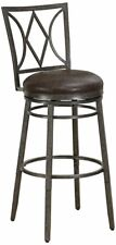 American Heritage Billiards 111236 Brandon Dual Height Stool–Rustic Pewter