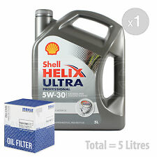 Engine Oil and Filter Service Kit 5 LITRES Shell Helix Ultra AF 5w-30 5L