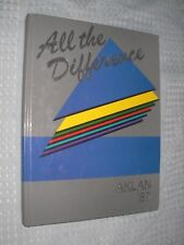 Acalanes High School 1987 Aklan yearbook year book Annual Calfornia Will Forte