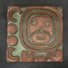 Vintage Batchelder Mayan Face Tile
