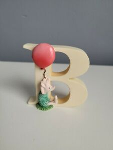 Winnie the Pooh classic alphabet letter (B) Piglet with Balloon