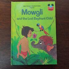 Disney Wonderful World of Reading 1978 Mowgli and the Lost Elephant Child HC