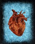 Original Anatomical human HEART OIL PAINTING Framed gothic Art Oddities occult