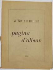 VITTORIA RICCI PARACCIANI PAGINA D'ALBUM MUSICA SPARTITI MUSICAL SCORES 1951
