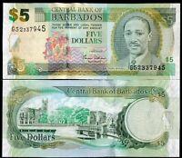 BARBADOS 5 DOLLARS 2007 P 67 UNC