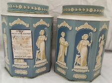 Vintage Hollands Toffee Greek Goddess Candy Tin Can X2