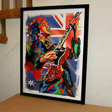 Angus Young ACDC Guitar Blues Hard Rock Music Poster Print Wall Art 18x24