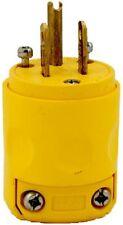 Leviton 515PV 15 Amp, 125 Volt, Grounding Plug, Yellow 1 Pack,
