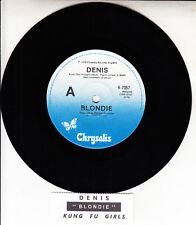 """BLONDIE Denis DEBORAH HARRY 7"""" 45 rpm vinyl record + juke box title strip"""