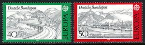Germany 1248-1249,MNH.EUROPA CEPT.Rhon highway; Rhine, Siebengebirge,train, 1977