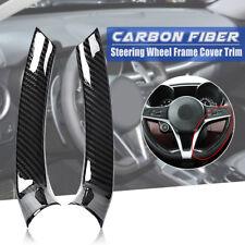 Carbon Fiber Steering Wheel Frame Cover Trim For Alfa Romeo Giulia Stelvio 2017