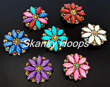 ANTIQUE STYLE LOOK FLOWER BROOCH PIN ( 7 DIFFERENT COLORS TO CHOOSE) FREE SHIP