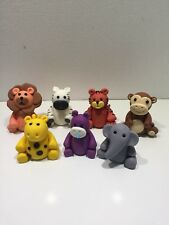 3D ZOO JUNGLE ANIMALS CAKE TOPPER FONDANT, ICING SUGAR BIRTHDAY PARTY