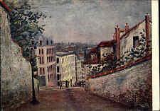 ~1953 Russland Künstlerkarte Kunst Art Postcard Utrillo Maurice Rue Monmartre