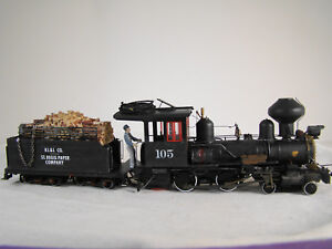 4-4-0  Steam Logging Locomotive - TSU 2200 Sound + DCC - custom weathered-lot 38