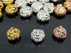 Solid Metal Lion Head Bracelet Necklace Connector Charm Beads Silver Gold Rose